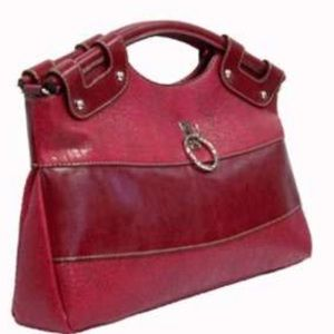 Rina Rich red two tone bag
